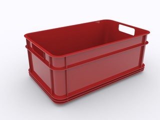 Rote Plastik Kiste