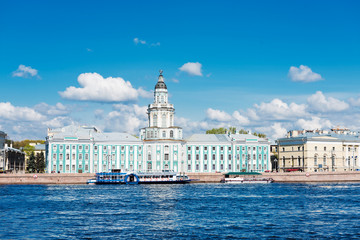 View of the Kunstkamera in Saint Petersburg, Russia