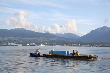 Waste Clean Up  Barge, Vancouver Harbor