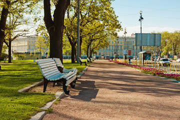 Green city park. Saint-Petersburg, Russia
