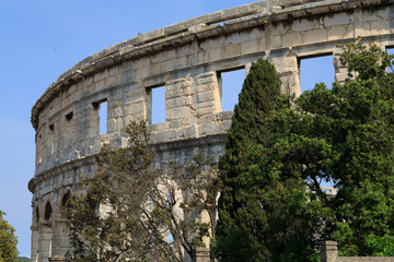 Ancient Roman Amphitheater (Arena) in Pula, Croatia