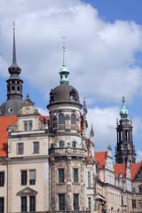 In der Altstadt von Dresden
