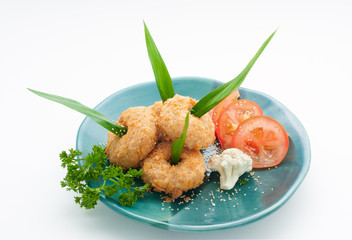 Crub cutlets with grocery