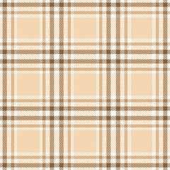 Beige plaid tartan seamless pattern background