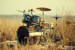 canvas print picture - Drum set on fresh air