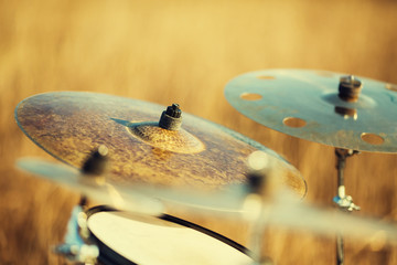 Close up ride cymbal