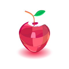Decorative red apple