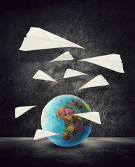 paper planes around africa