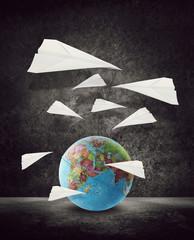 paper aeroplanes around world