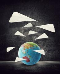 paper aeroplanes around australia