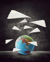 paper aeroplanes around asia