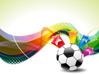 Colorfull Football Background With Stars