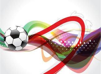 Colorfull Football Background