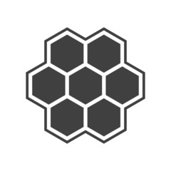 Illustration of hexagon icon