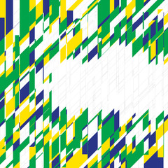 Vector geometric background in Brazil concept.