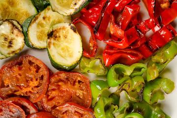 Braised vegetables full frame