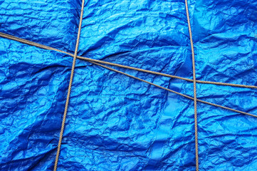 plastic waterproof tarpaulin with rope