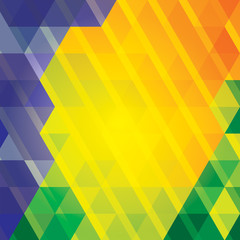 Brazil color geometry vector background.