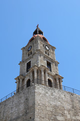 Uhrenturm in der Altstadt von Rhodos
