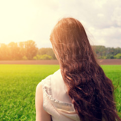 Teenage Girl at the Field