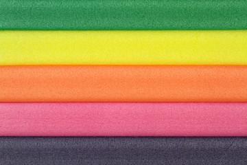Colorful foam rubber
