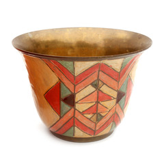 Gobelet en cuivre (décor géométrique)
