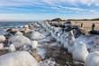 Winter an der Küste der Ostsee.