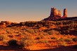 Iconic American desert view at sunset near Monument Valley, USA