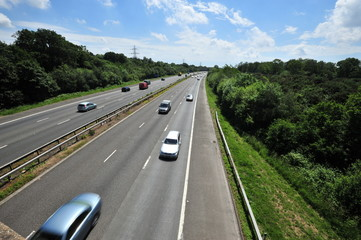 M23 Motorway near Gatwick airport 9 June 2013