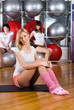 Pretty girls in fitness center