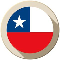 Chile Flag Button Icon Modern