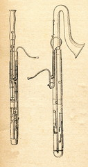 Basson (left) and contrabassoon