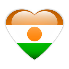 Niger flag button.
