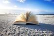 Buch am Strand