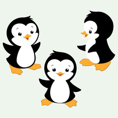 Cartoon Penguins