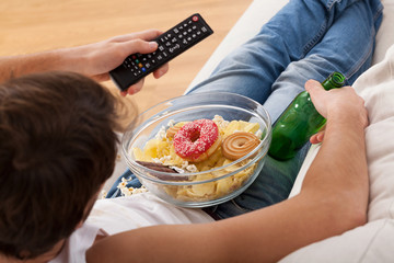 Sweets, beer and television