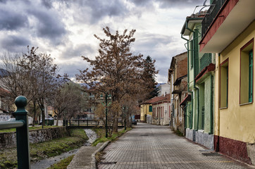 Old buildings in Florina, Greece