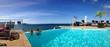 Leinwanddruck Bild - panorama piscine de rêve
