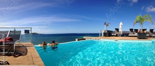 Leinwanddruck Bild panorama piscine de rêve