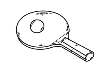 one ping pong racket