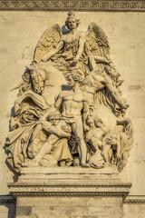 Architectural Detail of Arc de Triomphe