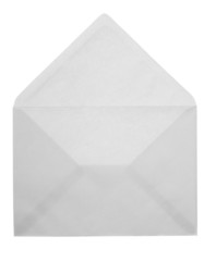 Blank opened envelope