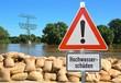 Hochwasser an der Elbe in Magdeburg