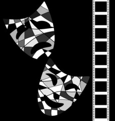 black white background cinema