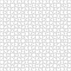Puzzle template 400 pieces vector, 20x20