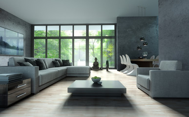 Sofa vor Terassenfenster 5