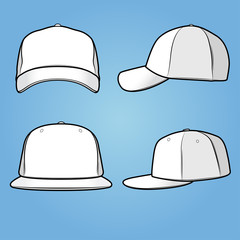 Front and side views of a normal+fitted cap/hat