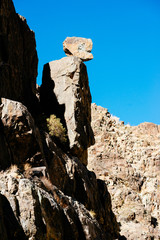 Rock that looks like a body and head in Death Valley