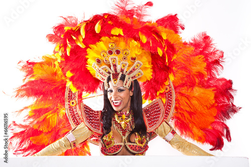 Fotobehang Carnaval Brazilian Samba Dancer
