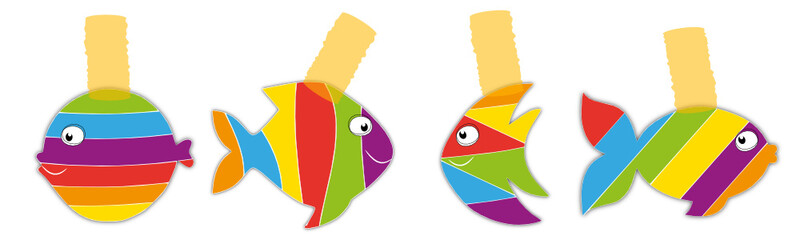 Poissons multicolores
